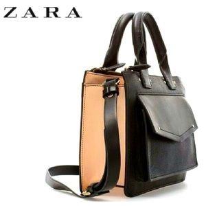 Zara city front pocket colorblock bag